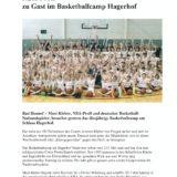 NBA-Profi zu Gast im Basketballcamp Hagerhof
